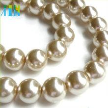 Imitación perlas de vidrio perlas de vidrio de superficie lisa checa