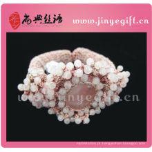 Shangdian Handcrafted Vintage frisado Crochet Bracelet Womens Acessórios
