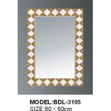 Miroir de salle de bains en verre argenté d'épaisseur de 5mm (BDL-3105)