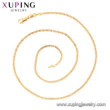 44229 xuping vogue simples mais recente corrente de ouro colar de pedra sem jóias de moda