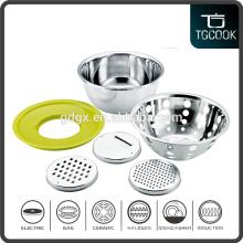 6 PCS Set Stainless Steel 3 Style Slicers Ktichen Tool Sets, Fruit Basket and Washing Basin