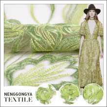 New arrival Professional 100% polyester tulle chemical lace embroidery fabric