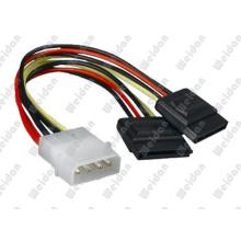 2 X SATA15pin to ATX 4pin Power SATA Cable.