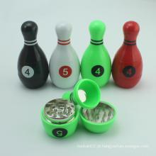 Moda 3 Piece 45 milímetros Plastic Bowling Herb Grinder com Fábrica