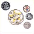 Ideas de regalo de negocios de monedas gravadas de uso cobrable