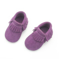Ungu Suede Leather Safe Shoes Wholesale Baby Moccasins