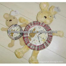 lovely and cute plush Animal Clock Cover