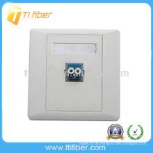 Single Port Duplex LC Fiber Optic Faceplate / Wandplatte