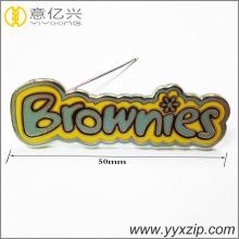 custom logo magnetic metal enamel lapel pin