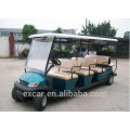 Excar 8 seats prices electric golf cart, cheap sightseeing bus for sale