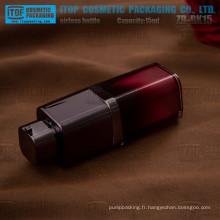 ZB-RK15 15ml couleur personnalisable chaud-vente carré noir 15ml flacon airless