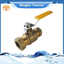 NHS BOOTH#4030 low lead 2 piece brass ball valve with compression ends private label allow