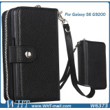 Leather Bag Case For Samsung Galaxy S6, Wallet Case For Samsung S6, Card Case For Samsung S6
