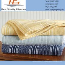 100 couverture de leno en coton teint en fil de coton