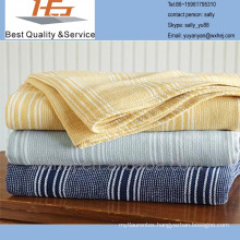 100 cotton yarn dyed cotton leno blanket