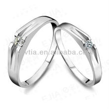 Simple designs engagement rings jewelry 925 sterling sliver couple rings