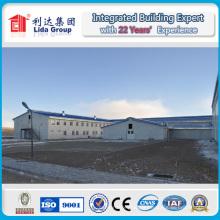 Entrepôt préfabriqué de structure métallique pour le stockage logistique