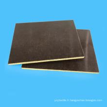 Panneau de coton phénolique de tissu de résistance à hautes températures