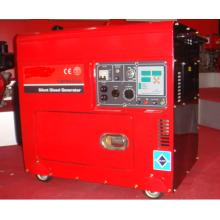 6.5 KVA aire refrigerado silencioso generador usado para horno nevera TV computadora aire acondicionado y luces