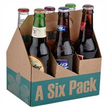 Custom Printed Take Away Cardboard Beer Bottle Box