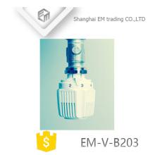 ЭМ-в-B203 ПП Белый Латунь термостатический Клапан радиатора глава