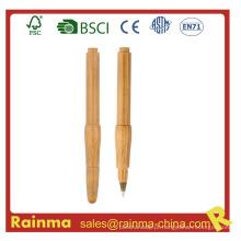 Caneta esferográfica de bambu de madeira para artigos de papelaria Eco