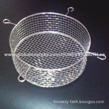 Stainless Steel Wire Basket, Smooth and Bright Surface Finish