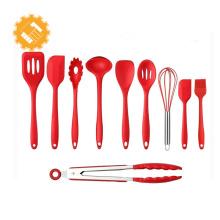 melhor venda de utensílios de cozinha de silicone conjunto de ferramentas de cozinha