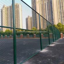 Cerca de elo de corrente de PVC verde para campo esportivo