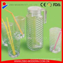 Venta caliente botella de agua de vidrio de 1000 ml, botellas de jugo de vidrio, botella de beber de vidrio