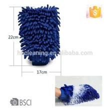 Guante de lavado de coche de chenilla impermeable AZO, guante de lavado BSCI Cualquier color y tamaño está disponible ~