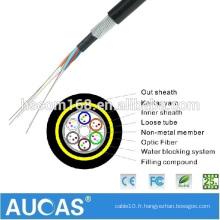 Câble de fibre optique ADSS 48 core personnalisé, ligne de production de câble ADSS