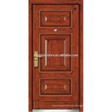 Panel de diseño de acero de madera blindada puerta