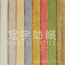 Tecido de linho de poliéster para sofá para têxteis domésticos