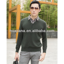 fashion men winter cashmere sweaters shirt collar