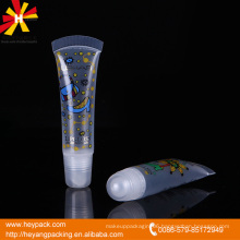 Hot sell PE cosmetic lip plastic tube packaging