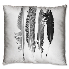 Group feather design cushion