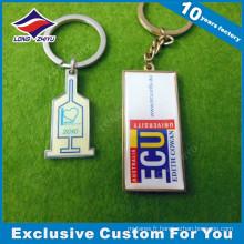 Keychain de cadeau de souvenir en métal de logo fait sur commande de promotion