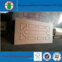 3мм сырья отлитая в форму HDF кожа двери для продажи