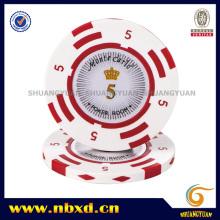 14G 2-Tone Clay Monte Carlo Etiqueta Valor de las fichas de póquer