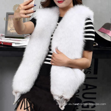 Buen precio chaleco de piel de zorro comprar en línea