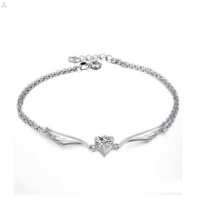 Fashionable jewelry high quality sterling silver ankle bracelet antique silver anklets
