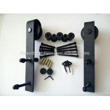 Herrajes de puertas correderas negras para puertas correderas con estilo
