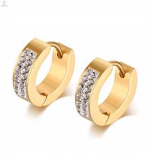 China Fábrica cambiante de las muestras de la joyería de los pendientes de oro