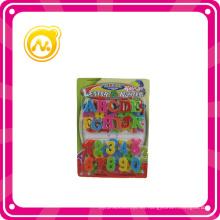 Plástico educativo letras magnéticas / números Inteligencia del juguete