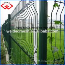 Pour acheter une clôture de clôture PVC recouvert de PVC de bonne qualité / clôture courbée soudée / 3 D clôture / clôture (certificat SGS et ISO9001)