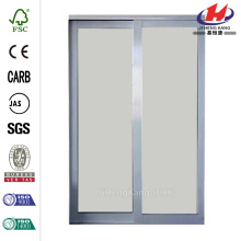 Glass Satin Clear Finish Aluminum Interior Sliding Door