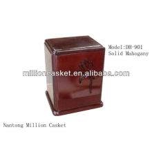solid mahogany wooden ceramic cremation urn pet adult