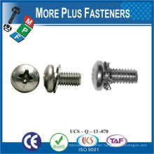 Made in Taiwan M6#X1/4 Fillister Head With Font Rectangular Square Washers Assembled Sems Screws