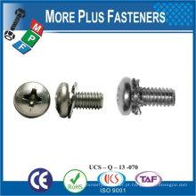 Feito em Taiwan M3x4 Fillister DIN 7985 com anilhas planas Assembleed Sems Screws